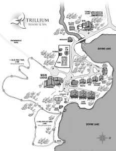 Trillium Resort and Spa; Muskoka Ontario - Resort Grounds Map
